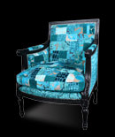 Patchwork chairs - Divine